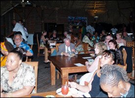 Audience At Nevis' Film Festival