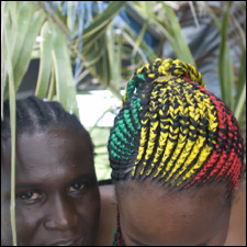 The Colors of The Flag Hairstyle