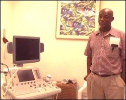 Senior Radiographer - Glen Herbert With New Ultrasound Machine