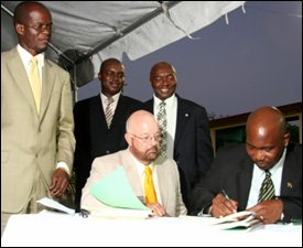 Signing of The Nevis Geothermal Power Agreement