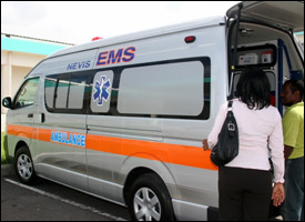 Nevis Island's New Ambulance