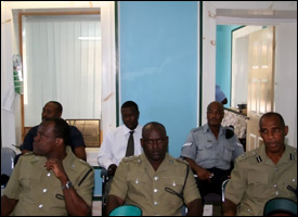 Nevis Island Police Officers