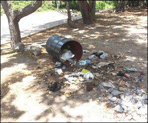 Trash At Bath Stream Tourism Site