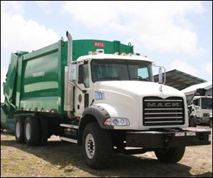 Nevis' New Mack Garbage Truck