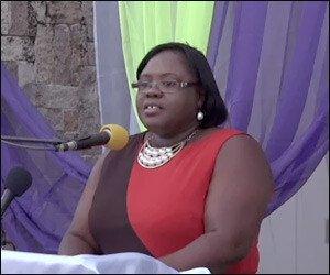 Junior Minister of Social Development on Nevis Mrs. Brandy-Williams