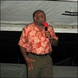 Minister Hensley At Nevis Christmas Tree Lighting