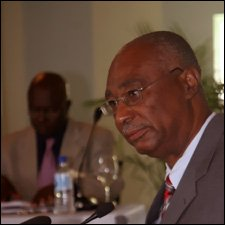 Minister of Finance For Nevis - Joseph Parry