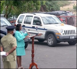 Nevis Police Accept New Jeeps