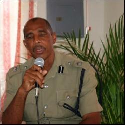 Nevis Police Superintendent Seabrookes