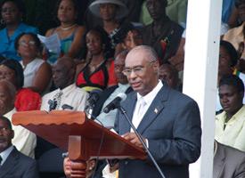 Nevis Premier Speaks At Independence Parade