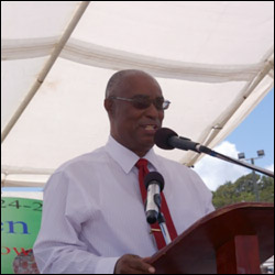 Premier Parry at The Nevis Agriculture Open Day