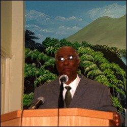 Premier Parry Addresses Congregation At Shiloh Baptist Church