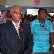 Nevis Premier Joseph Parry At Worship
