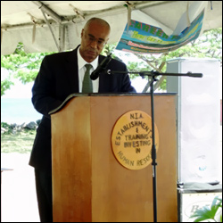 Nevis Premier Speaking At Career Fair - 2008