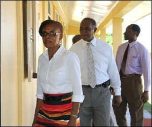 Nevis Premier Inspects Gingerland School