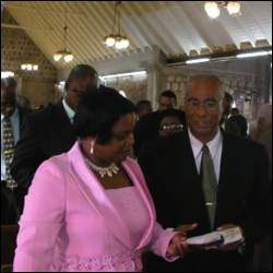 Nevis Premier - Joesph Parry and Wife Myrthlyn