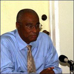 Nevis' Premier Joseph Parry At Press Conference