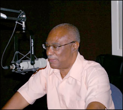 Premier Parry During A Radio Interview