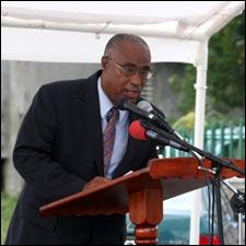 Nevis Premier Speaks At Waterfront