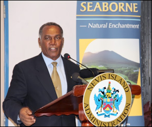 Nevis Premier Thanks Seaborne Airlines
