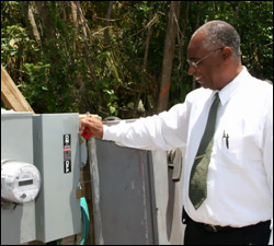 Premier Parry Turns On New Water Well