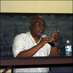 Nevis Premier At Town Hall Meeting About Property Taxes