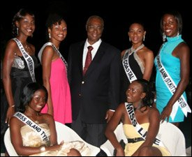 Nevis Premier With Beauty Contest Contestants