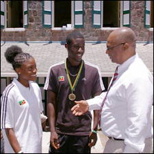 Young Athletes With Nevis Premier
