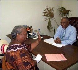 Nevis Premier With Unidentified Citizen