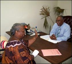 Nevis Premier Parry With Citizen