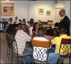 Premier Parry With UWI Students