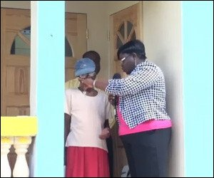 Nevis Senior Citizen Receives New House