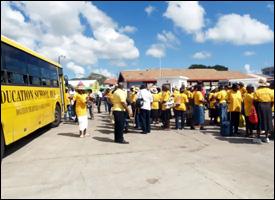 Nevis Senior Citizens At Ferry Terminal