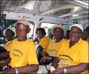 Nevis Seniors On Local Bus