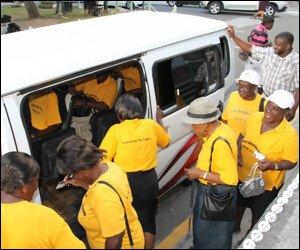 Nevis Seniors Board Bus