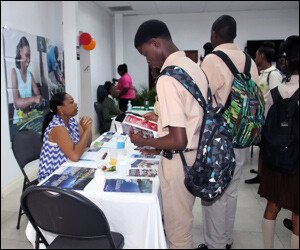 Nevis Students at College Fair