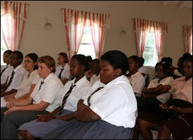 Nevis Students At Higher Education Meeting