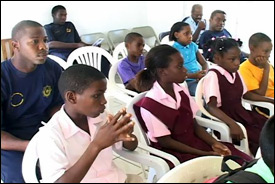 Nevis Students At Fire Safety Workshop