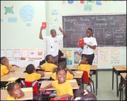 Students at The Elizabeth Pemberton Primary School