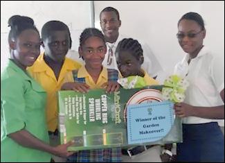 Nevis Students Receive Gardening Award