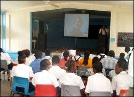 Nevis Students Watch Obama Inauguration