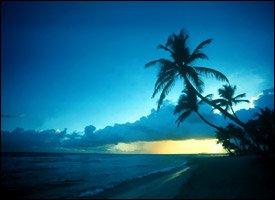Gorgeous Nevis Sunset On A Deserted Beach