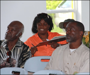 Nevis Taxi Drivers At Meeting