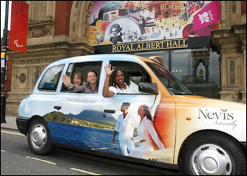 London Cab With Nevis Tourism Info
