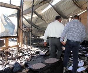 Nevis Treasury Fire Aftermath
