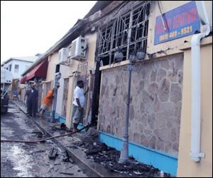 Nevis Treasury Building Fire Damage