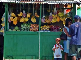 Local Nevis Vegetables and Fruits