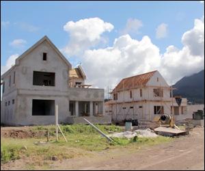 Nevis Villa Construction at Pinneys