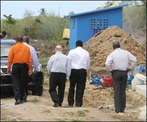 Nevis Water Enhancement Construction Site