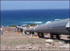 Nevis Wind Farm Turbines Under Construction